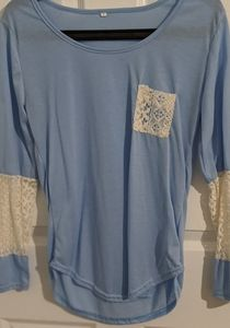 Pretty Periwinkle Lace Top